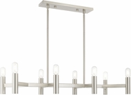 Livex 51138-91 Copenhagen Modern Brushed Nickel Kitchen Island Light