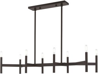 Livex 51178-07 Copenhagen Modern Bronze Island Lighting