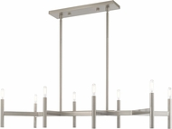 Livex 51178-91 Copenhagen Contemporary Brushed Nickel Kitchen Island Lighting