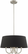 Livex 51354-91 Belclaire Brushed Nickel 18  Drum Hanging Pendant Lighting