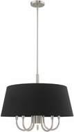 Livex 51356-91 Belclaire Brushed Nickel 24  Drum Hanging Pendant Light