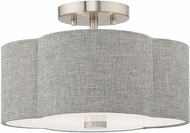 Livex 51362-91 Kalmar Brushed Nickel Ceiling Light