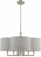Livex 51365-91 Kalmar Brushed Nickel 24  Drum Hanging Light Fixture