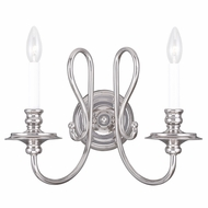 Livex 5162-35 Caldwell Polished Nickel Lighting Sconce