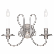 Livex 5162-91 Caldwell Brushed Nickel Lamp Sconce