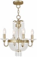 Livex 51844-28 Valentina Hand Applied Winter Gold Mini Chandelier Light