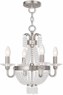 Livex 51844-91 Valentina Brushed Nickel Mini Chandelier Lighting