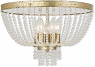 Livex 51866-28 Valentina Hand Applied Winter Gold Overhead Lighting Fixture