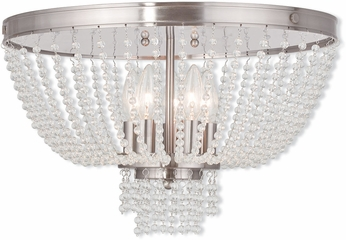 Livex 51866-91 Valentina Brushed Nickel Ceiling Lighting