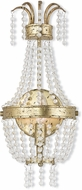Livex 51872-28 Valentina Hand Applied Winter Gold ADA Wall Sconce Lighting