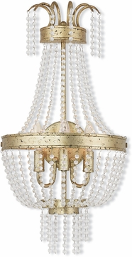 Livex 51874-28 Valentina Hand Applied Winter Gold Lighting Wall Sconce