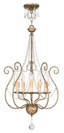 Livex 51907-36 Isabella Hand Applied European Bronze Mini Chandelier Light