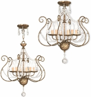 Livex 51916-36 Isabella Hand Applied European Bronze Mini Chandelier Lamp / Ceiling Light