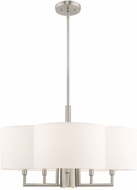Livex 51925-91 Chelsea Brushed Nickel 24  Drum Drop Ceiling Lighting