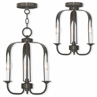 Livex 51933-92 Addison Contemporary English Bronze Mini Ceiling Chandelier / Ceiling Lighting Fixture