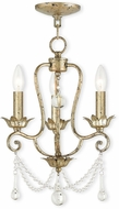 Livex 51953-28 Sophia Hand Applied Winter Gold Mini Chandelier Light