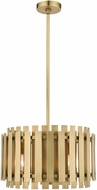 Livex 52048-08 Greenwich Contemporary Natural Brass 18  Drum Ceiling Pendant Light