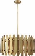 Livex 52049-08 Greenwich Modern Natural Brass 24  Drum Drop Ceiling Light Fixture