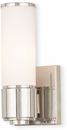 Livex 52121-35 Weston Contemporary Polished Nickel Lighting Wall Sconce
