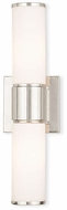 Livex 52122-35 Weston Contemporary Polished Nickel Wall Sconce Lighting
