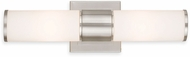 Livex 52122-91 Weston Contemporary Brushed Nickel Wall Mounted Lamp
