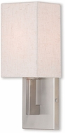 Livex 52131-91 Meridian Brushed Nickel Wall Light Sconce