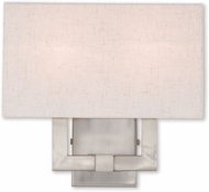 Livex 52132-91 Meridian Brushed Nickel Wall Light Sconce