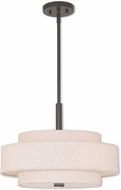 Livex 52137-92 Meridian English Bronze 18  Drum Drop Lighting Fixture