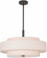 Livex 52138-92 Meridian English Bronze 24  Drum Pendant Light