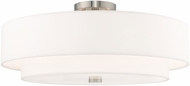 Livex 52140-91 Meridian Brushed Nickel Ceiling Lighting Fixture