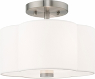 Livex 52151-91 Chelsea Brushed Nickel Overhead Lighting