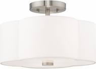 Livex 52152-91 Chelsea Brushed Nickel Flush Mount Light Fixture