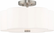 Livex 52153-91 Chelsea Brushed Nickel Flush Mount Lighting Fixture