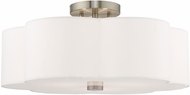 Livex 52154-91 Chelsea Brushed Nickel Flush Ceiling Light Fixture