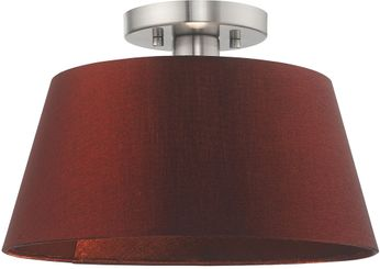 Livex 52902-91 Belclaire Brushed Nickel Flush Mount Ceiling Light Fixture