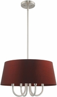 Livex 52904-91 Belclaire Brushed Nickel 18  Drum Pendant Light