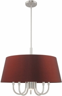 Livex 52905-91 Belclaire Brushed Nickel 24  Drum Lighting Pendant