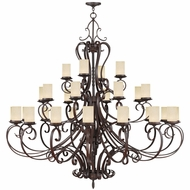 Livex 5498-58 Millburn Manor Imperial Bronze Ceiling Chandelier