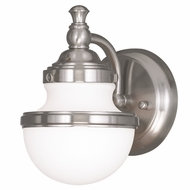 Livex 5711-91 Oldwick Brushed Nickel Wall Sconce Light