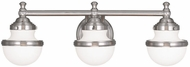 Livex 5713-91 Oldwick Contemporary Brushed Nickel Bath Lighting Sconce
