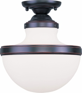 Livex 5722-67 Oldwick Contemporary Olde Bronze Ceiling Light Fixture