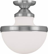 Livex 5722-91 Oldwick Contemporary Brushed Nickel Ceiling Lighting Fixture
