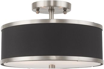 Livex 60402-91 Park Ridge Brushed Nickel Home Ceiling Lighting