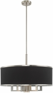 Livex 60406-91 Park Ridge Brushed Nickel 24  Drum Hanging Lamp