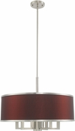 Livex 60416-91 Park Ridge Brushed Nickel 24  Drum Pendant Light Fixture