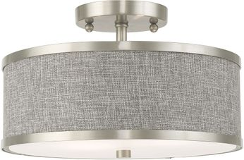 Livex 60422-91 Park Ridge Brushed Nickel Overhead Lighting Fixture
