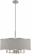 Livex 60426-91 Park Ridge Brushed Nickel 24  Drum Hanging Pendant Lighting