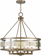 Livex 6258-64 Waverly Palacial Bronze with Gilded Accents Mini Chandelier Light
