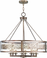 Livex 6259-64 Waverly Palacial Bronze with Gilded Accents Chandelier Lighting