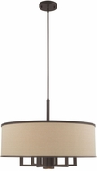 Livex 62614-07 Park Ridge Bronze 24  Drum Hanging Light Fixture